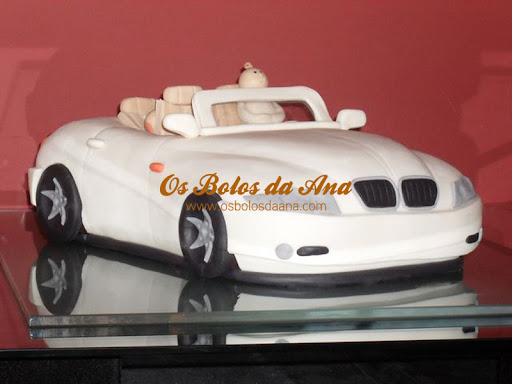 Bolo 3D Descapotavel carro bebe